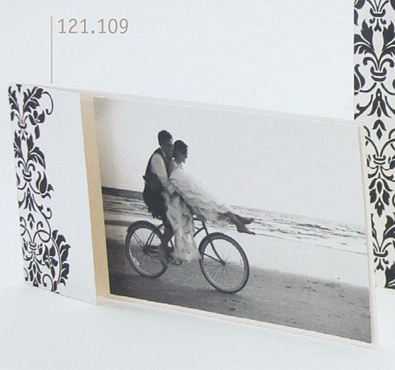 Hochzeitskarte Bm101009 Weiss Schwarz Ornament Reliefpragung
