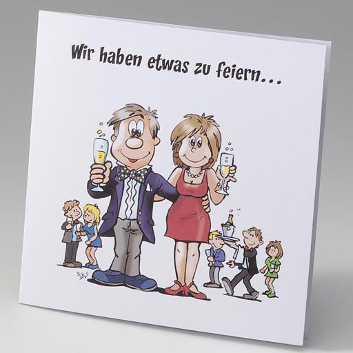 Humorvolle, lustige Hochzeitskarten z.B. mit Comic / Karikaturen ...