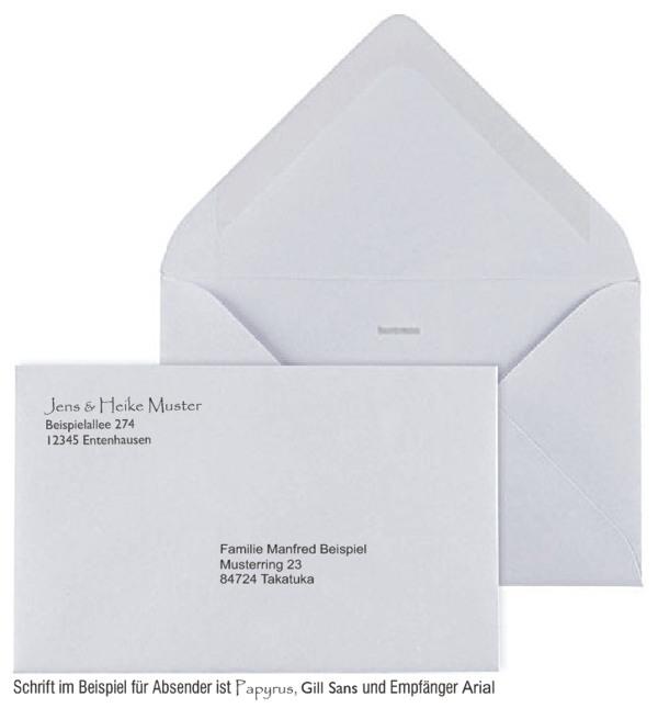Briefe Absender Und Empfänger : Quadratische oder rechteckige briefkuverts und
