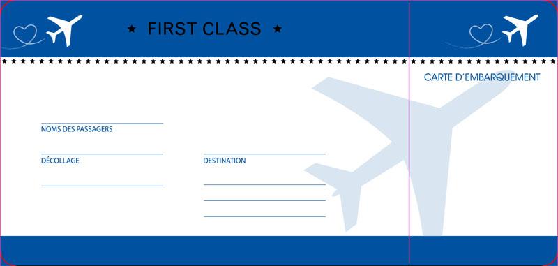 Hochzeitskarte bm112129fr als Flugticket inkl. Boardingcard