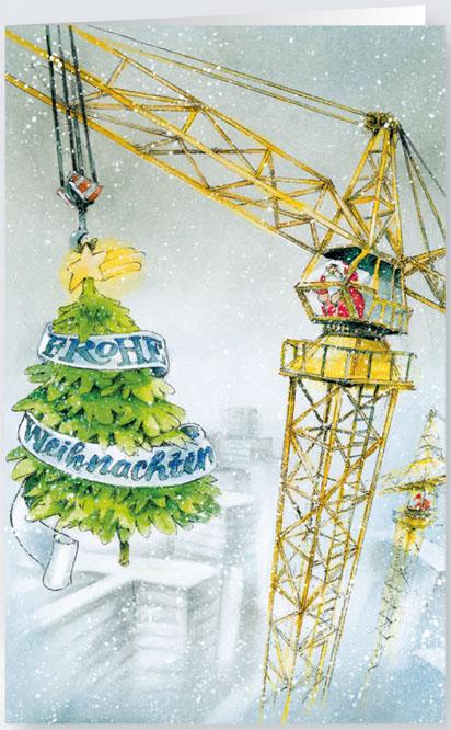 weihnachtskarte hochbau und kranverleih baubranche