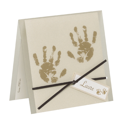 geburtskarte br unlich mit handabdruck folie bm588058. Black Bedroom Furniture Sets. Home Design Ideas