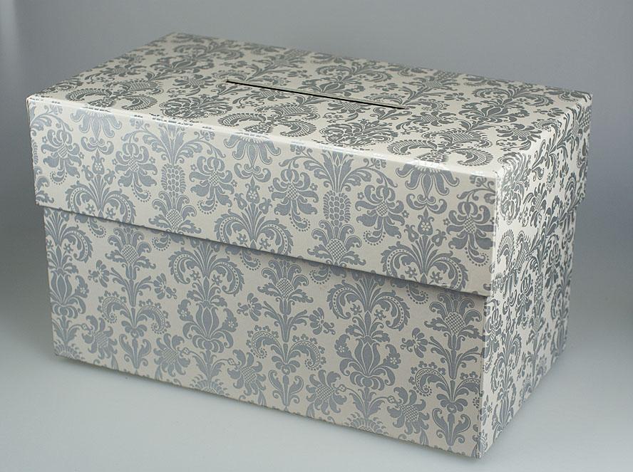 Sammelbox in silber für Geldgeschenke zur Hochzeit oder Jubiläum