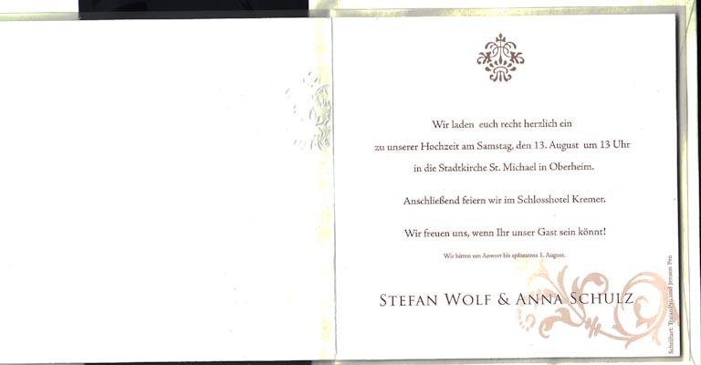 100 Einladungskarten zur Hochzeit fzh1656 – Hochzeitskarten