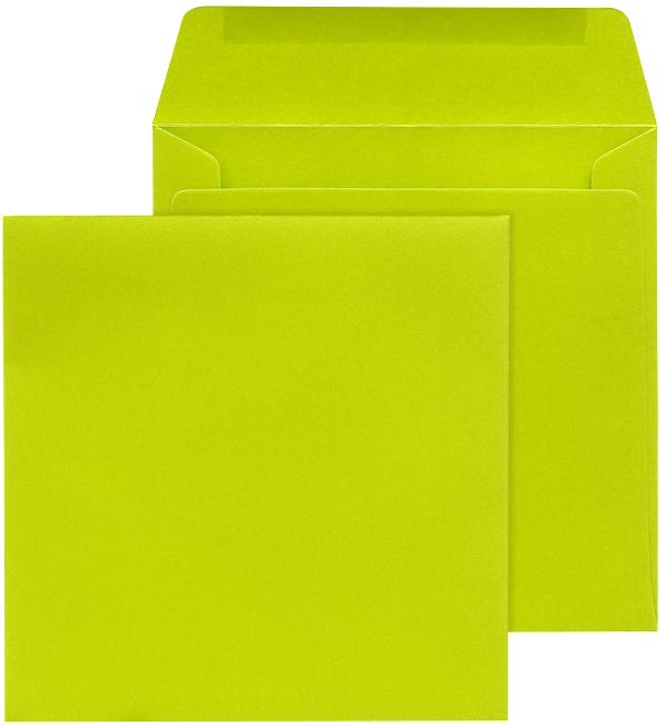 briefumschlag 17x17 cm quadratisch gr n nassklebend bm97055. Black Bedroom Furniture Sets. Home Design Ideas