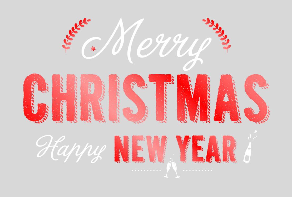 Weihnachtskarte silbergrau mit rot und wei englische w nsche for Text weihnachtskarte englisch
