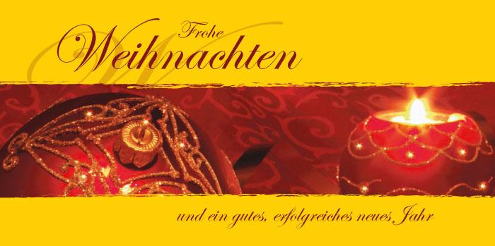 Weihnachtskarte frohe weihnachten kugel kerze wk1210 - Christliche weihnachtskarten ...