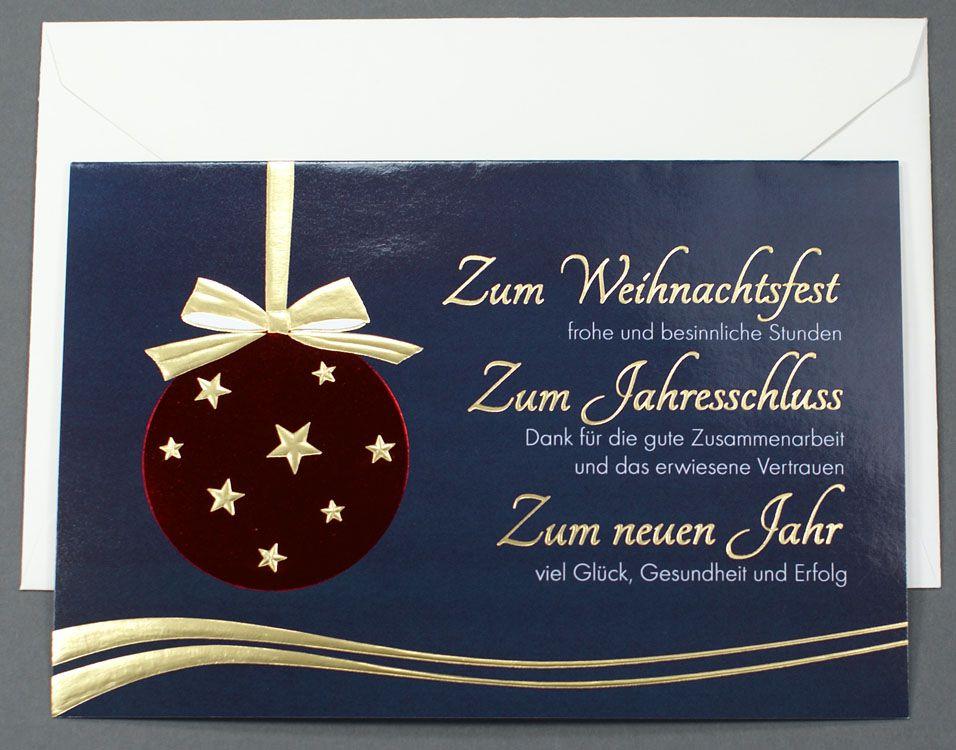 Weihnachtskarte Mit Dank Für Gute Zusammenarbeit Und Vertrauen