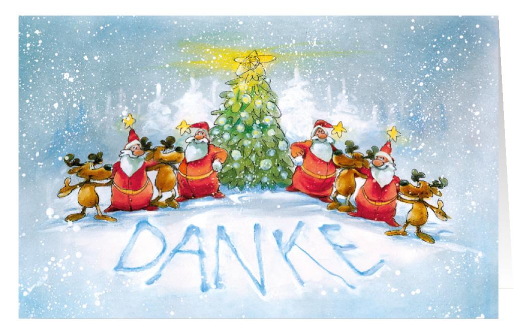 Weihnachtskarte Branchenkarte Dankkarte Danke Teamkarte ...