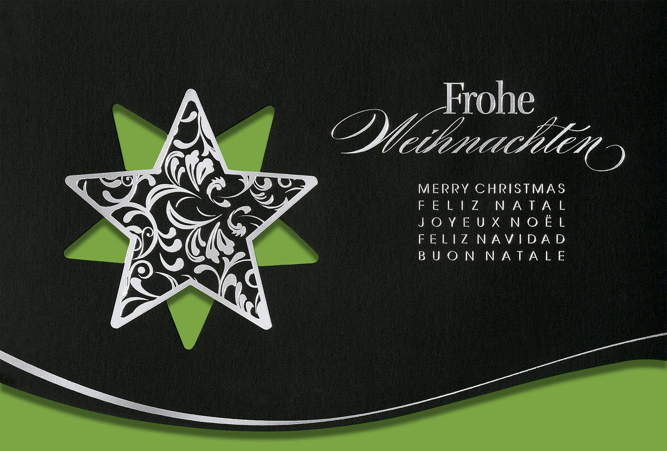 weihnachtskarte schwarz international mit. Black Bedroom Furniture Sets. Home Design Ideas