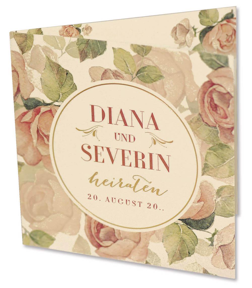 Hochzeitskarten - Einladungskarten mit Rosen | Alle-Karten.de - Einladungskarten Hochzeit Rosen