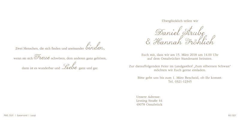 Hochzeitskarte Mit Ja Und Schmetterlingen Ringen Und Herz