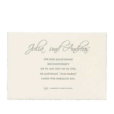 Blankokarte Bm303051+93051 13,5x9,2 Cm Creme   Beispiel Hochzeitsparty U2013  Bütten U0026 Blanko U2013 Blankokarten U2013 Creme Blankokarten U2013 Rechteckig U2013  Alle Karten.de