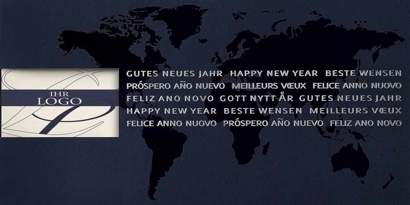 Weihnachtskarten Mit Firmenlogo.Neujahrskarte Mit Gutem Zweck Kindernothilfe Gutes Neues Jahr Kartenausschnitt Für Firmenlogo