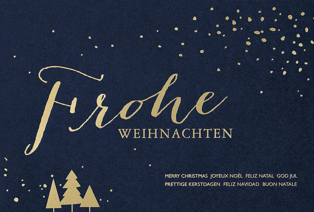 weihnachtskarte frohe weihnachten international. Black Bedroom Furniture Sets. Home Design Ideas