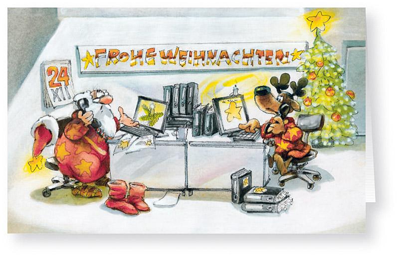 weihnachtskarte branchenkarte b roservice schreibb ro computer weihnachten weihnachtskarten. Black Bedroom Furniture Sets. Home Design Ideas
