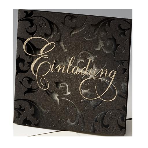 Ornament Prägung schwarz/gold – Hochzeit – Hochzeitseinladungen ...