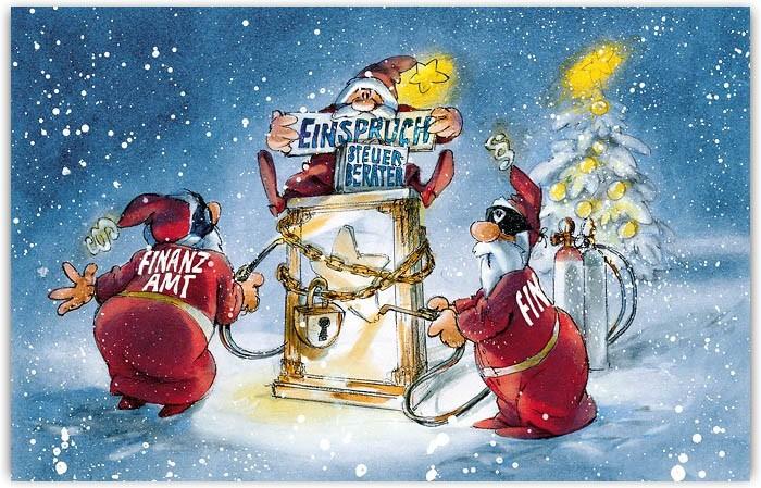 Lustige Branchenweihnachtskarte Fur Steuerburo Und