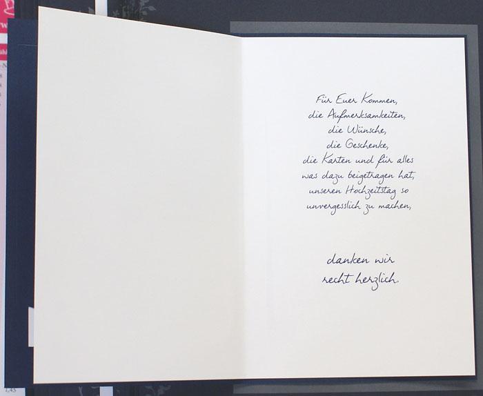 Foto-Dankkarte dunkelblau Herzen Danke mit Text fzd0852 – Danksagungskarten – Hochzeit ...
