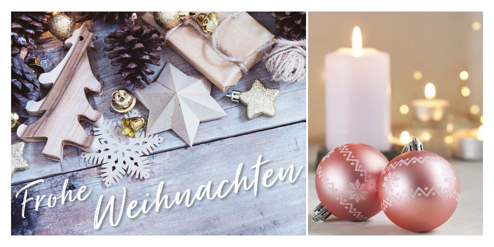 Weihnachtliche Festtagskarte mit \