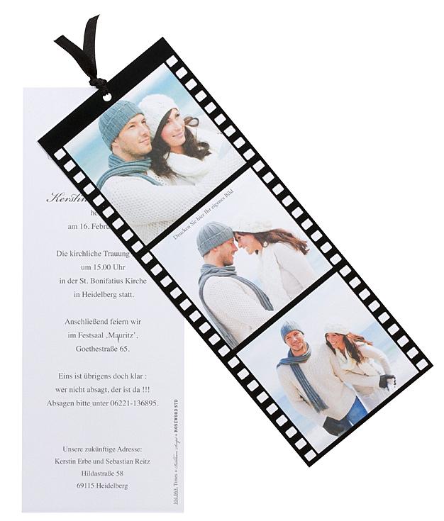 Fotokarte Filmstreifen als Einladungskarte oder ...