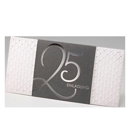 Elegant Einladungskarte Für Jubiläum Nach 25 Jahren, Z.B. Silberhochzeit U2013 Sonstige  Anlässe U2013 Silberhochzeitskarten 25 Jahre U2013 Einladungskarten Zur  Silberhochzeit ...