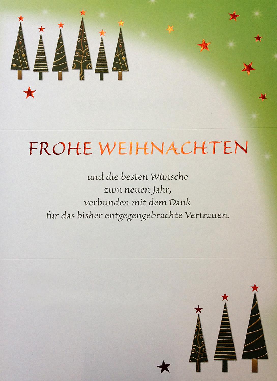weihnachtsbrief wei gr n frohe weihnachten dank f r. Black Bedroom Furniture Sets. Home Design Ideas