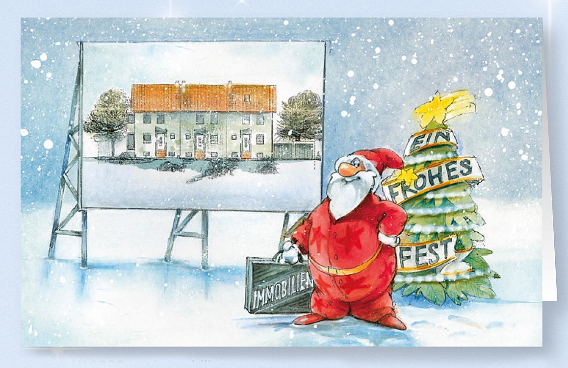 weihnachtskarte branchenkarte f r immobilien und. Black Bedroom Furniture Sets. Home Design Ideas