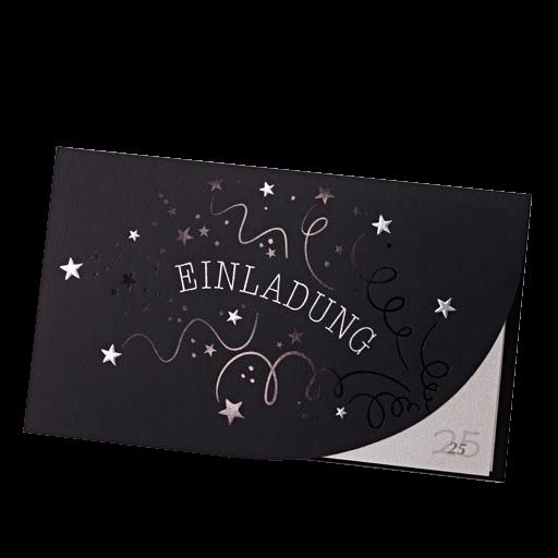 Einladungkarte Mattschwarz Mit Sternen Und Schriftzug Einladung U2013  Hochzeitskarten U2013 Hochzeitseinladungskarten U2013 Nach Farben Sortiert U2013  Schwarz ...
