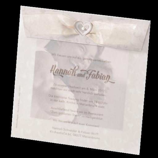 Hochzeitskarte Dankkarte Fur Eigenes Foto Mit Transparentpapier