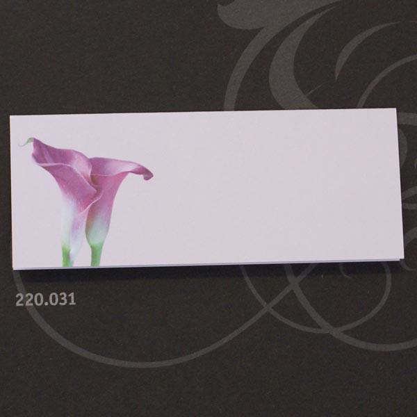 Hochzeitskarten Set mit Blütenmotiv zwei Callas in lila / flieder ...