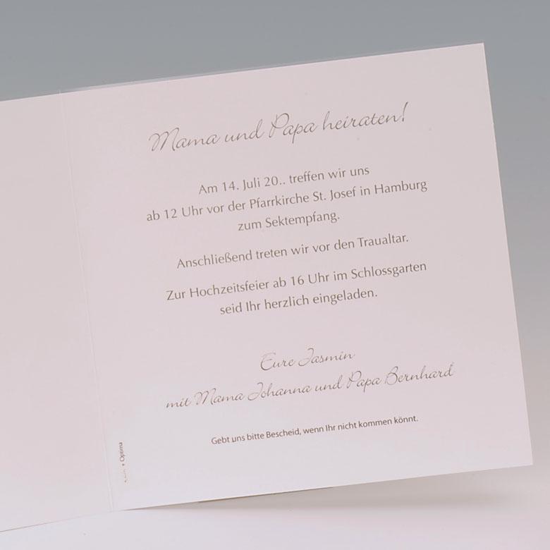 Hochzeitskarte Mama U0026 Papa Heiraten Taufe Baby Traufe Grau, Kreative  Einladungen