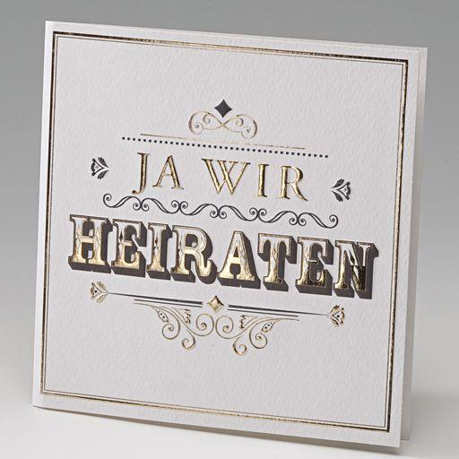 hochzeitskarte ja wir heiraten western-style gold ba723024, Einladung