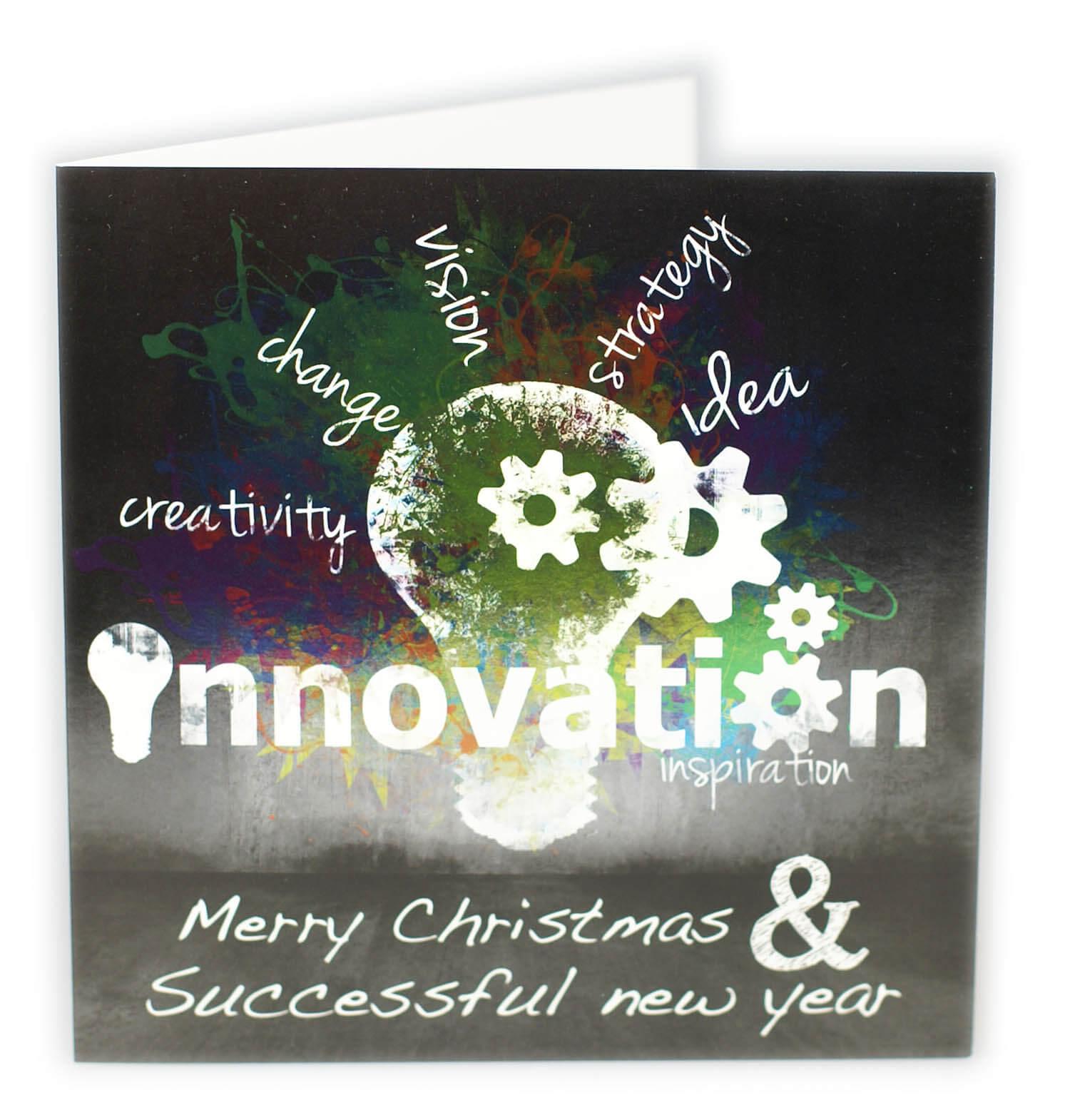Moderne firmen weihnachtskarte in englisch mit ausgefallenem farbdruck weihnachten - Weihnachtskarte englisch ...