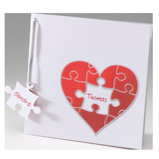 Hochzeitskarten Und Einladungskarten Zur Hochzeit Mit Puzzleteilen |  Alle Karten.de