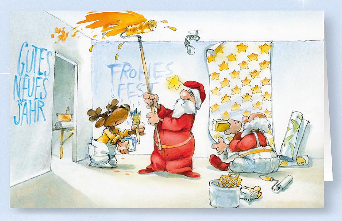 weihnachtskarte branchenkarte malerbetrieb innenausstatter weihnachten weihnachtskarten. Black Bedroom Furniture Sets. Home Design Ideas