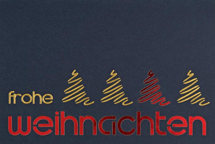 weihnachtskarte nachtblau frohe weihnachten gold rot. Black Bedroom Furniture Sets. Home Design Ideas