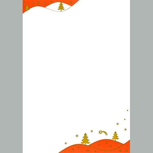 100 weihnachtsbriefe goldlandschaft ms144055 for Frank flechtwaren katalog weihnachten