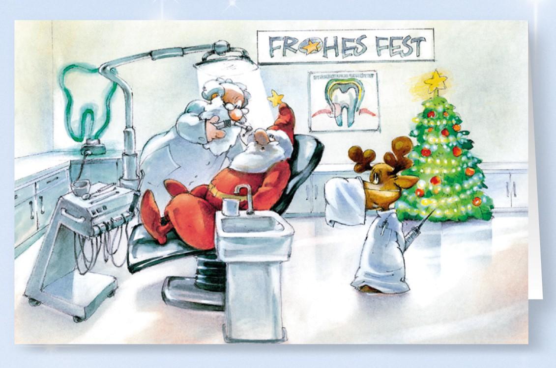 Weihnachtskarte Branchenkarte Zahnarzt-Praxis Zahnärzte ...