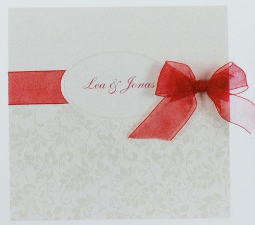 ... Schleife rot pr16371 – Hochzeit – Hochzeitseinladungen – mit