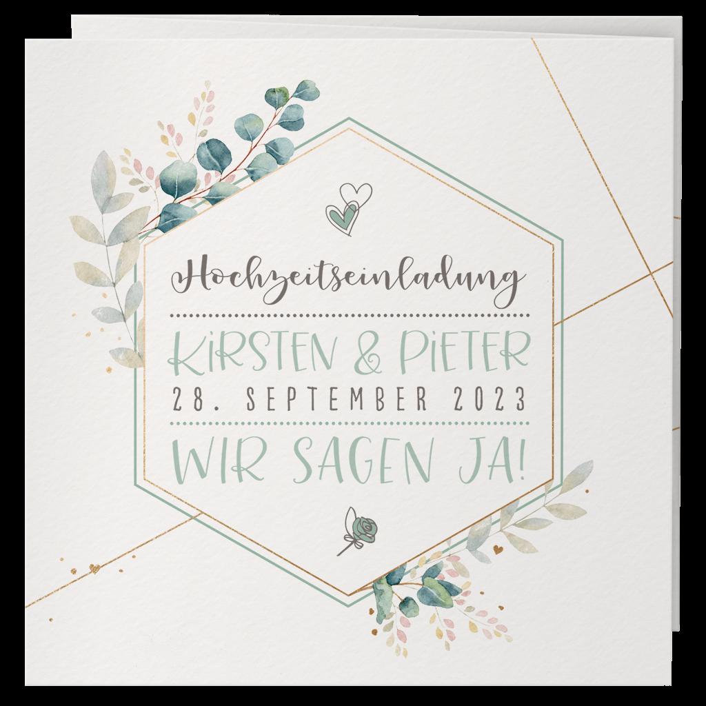 Hochzeitseinladungen Mit Blumen Oder Bluten Alle Karten De