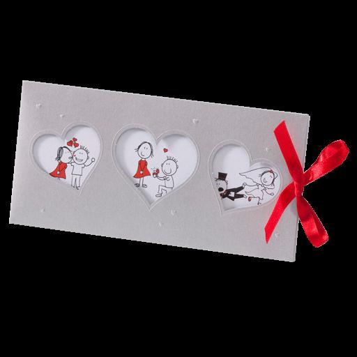 Lustige Comic Hochzeitskarte Mit Herzen, Verliebt, Verlobt, Verheiratet U2013  Hochzeitskarten U2013 Hochzeitseinladungskarten U2013 Einladungskarten Mit Herzen  ...