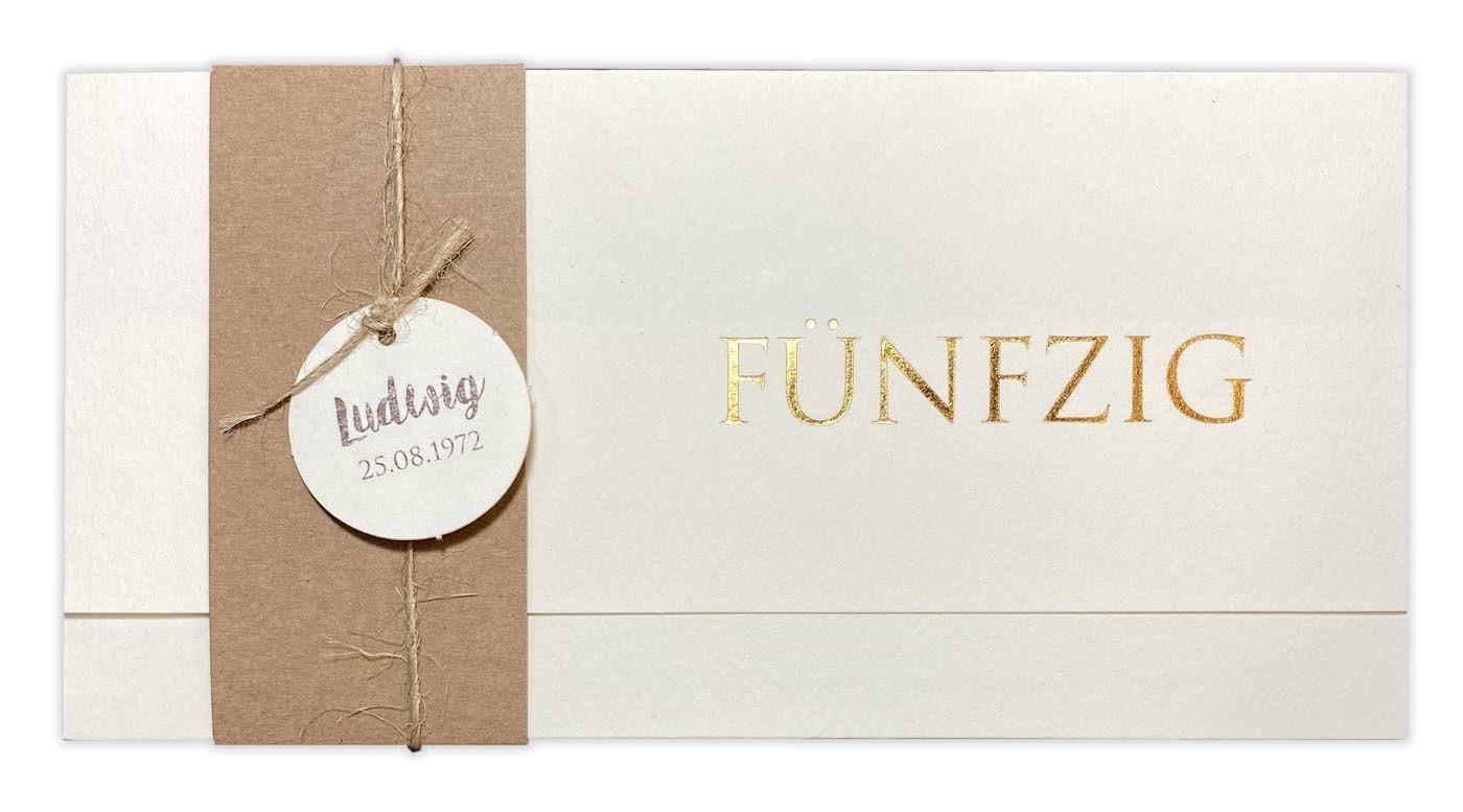 50 x Einladungskarten zur Hochzeit Einladungen Ringe Format DIN lang 21x10 cm