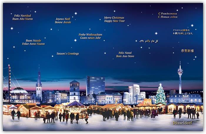 Weihnachtsgrüße In Die Ferne.Städtekarten Weihnachtlich Alle Karten De