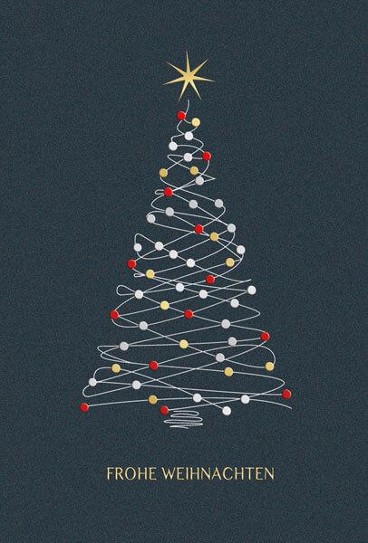 Weihnachtsgrüße Als Tannenbaum.Moderne Weihnachtskarte In Anthrazit Mit Tannenbaum Und Weihnachtsgruß