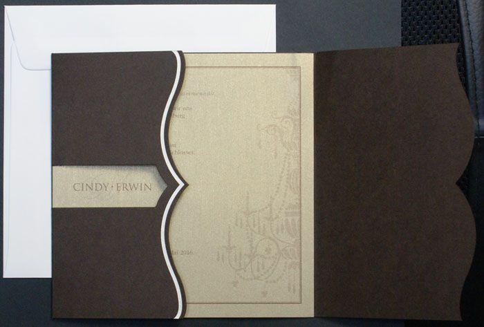 einladungskarte quadratisch dunkelbraun kissenoptik fc551414, Einladungsentwurf