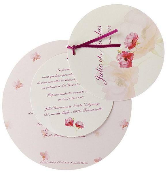 Einladungskarte Für Hochzeit Geburtstag Mit Rosen Bm103083 Rund U2013  Hochzeitskarten U2013 Hochzeitseinladungskarten U2013 Mit Blumen / Blüten /  Pflanzen U2013 Rosen ...