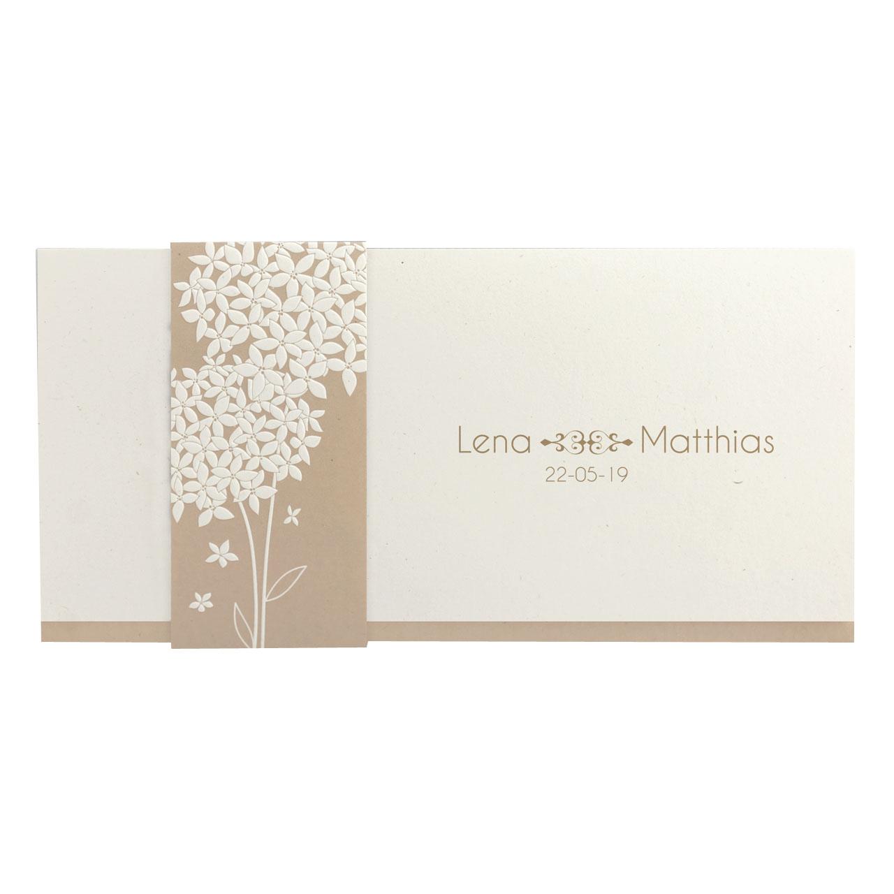auf Banderole und Karte – Hochzeit – Hochzeitseinladungen ...