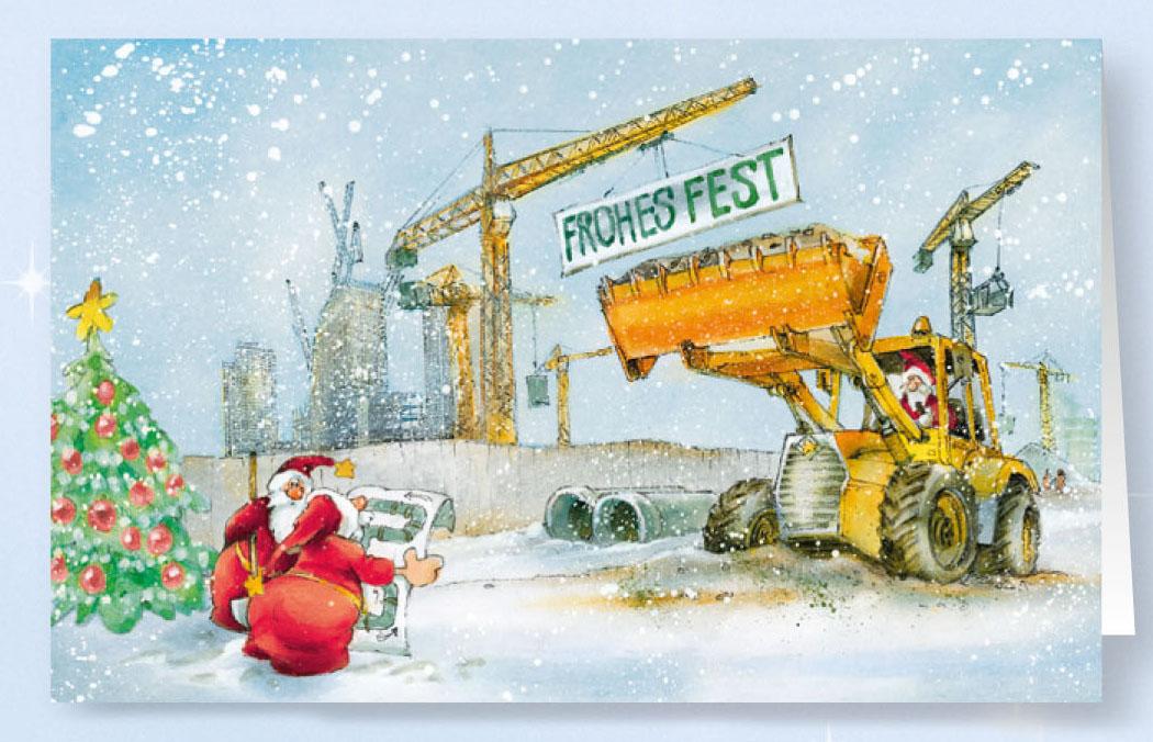 Weihnachtskarte branchenkarte bauunternehmen baubranche weihnachten weihnachtskarten - Weihnachtskarte englisch ...