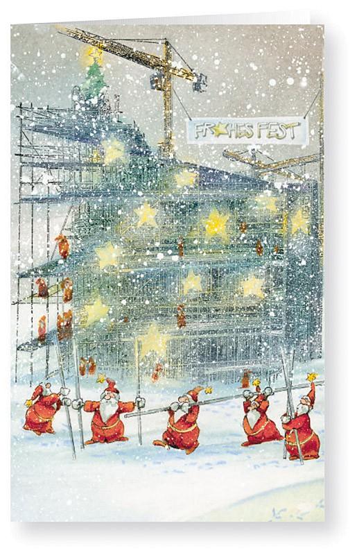 Weihnachtskarten Comic.Weihnachtskarte Branchenkarte Für Gerüstbau Hochbau Weihnachten